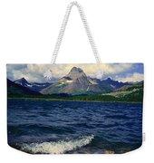 Lake Sherburne, Glacier National Park Weekender Tote Bag