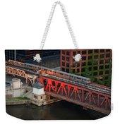 Lake Street Crossing Chicago River Weekender Tote Bag