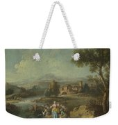 Landscape With A Group Of Figures Fishing Weekender Tote Bag