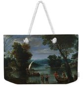 Landscape With A River And Boats Weekender Tote Bag