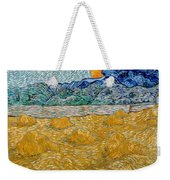 Landscape With Wheat Sheaves And Rising Moon Weekender Tote Bag