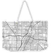 Las Vegas Nevada Usa Light Map Weekender Tote Bag