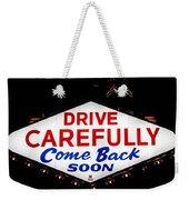 Las Vegas Sign At Night Weekender Tote Bag