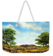 Lava Rock And Flowers Weekender Tote Bag