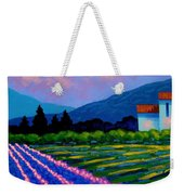 Lavender Field France Weekender Tote Bag