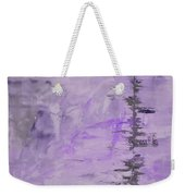 Lavender Gray Abstract Weekender Tote Bag