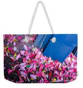 Leaves Slate Weekender Tote Bag