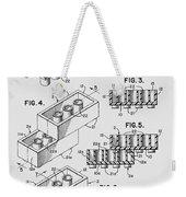 Lego Toy Building Brick Patent  Weekender Tote Bag