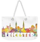 Leicester England Skyline Weekender Tote Bag
