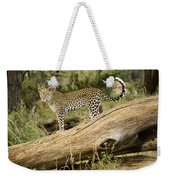 Leopard In The Forest Weekender Tote Bag