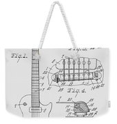 Les Paul  Guitar Patent From 1955 Weekender Tote Bag