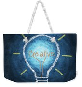 Light Bulb Design Weekender Tote Bag