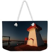 Lighthouse And Marina At Hecla In Manitoba Weekender Tote Bag