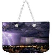 Lightning Storm Weekender Tote Bag