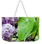 Lilac Drops Weekender Tote Bag