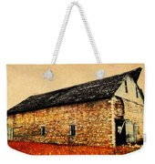 Lime Stone Barn Weekender Tote Bag by Julie Hamilton