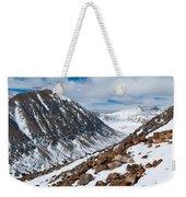 Lincoln Peak Winter Landscape Weekender Tote Bag