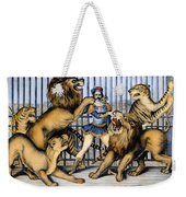 Lion Tamer, 1873 Weekender Tote Bag