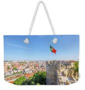 Lisbon Castle Flag Weekender Tote Bag