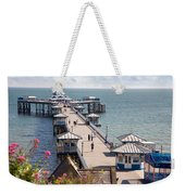 Llandudno Pier North Wales Uk Weekender Tote Bag