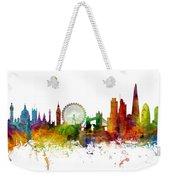 London England Skyline Panoramic Weekender Tote Bag