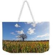 Lone Oak Tree In Wheat Field Weekender Tote Bag
