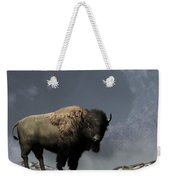 Lonely Bison Weekender Tote Bag by Daniel Eskridge