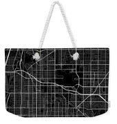Long Beach California Usa Dark Map Weekender Tote Bag