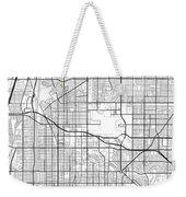 Long Beach California Usa Light Map Weekender Tote Bag