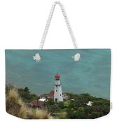 Looking Down At The Lighthouse Weekender Tote Bag