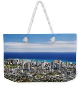 Lookout View Of Honolulu Weekender Tote Bag