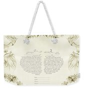 Love Birds Ketubah- Reformed Humanistic Version  Weekender Tote Bag