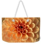 Lovely In Peaches And Cream - Dahlia Weekender Tote Bag