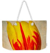 Lovely Textured Tulip Weekender Tote Bag