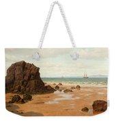 Low Tide At The Ris Beach Weekender Tote Bag