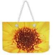 Macro Shot Of A Yellow Flower. Weekender Tote Bag