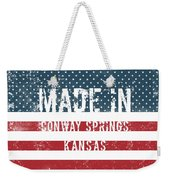 Made In Conway Springs, Kansas Weekender Tote Bag