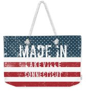 Made In Lakeville, Connecticut Weekender Tote Bag