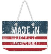 Made In Lakeville, Pennsylvania Weekender Tote Bag