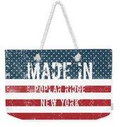 Made In Poplar Ridge, New York Weekender Tote Bag