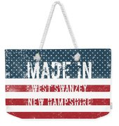 Made In West Swanzey, New Hampshire Weekender Tote Bag