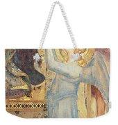 Maesta  Angel Offering Flowers To The Virgin Weekender Tote Bag