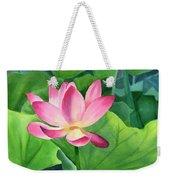 Magenta Lotus Blossom Weekender Tote Bag