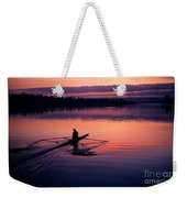 Man Rowing On Montlake Cut Weekender Tote Bag