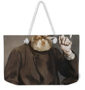 Man Smoking A Pipe Weekender Tote Bag