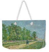 Man With Spade In A Suburb O Weekender Tote Bag