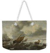 Maritime Scene With Stormy Seas Weekender Tote Bag