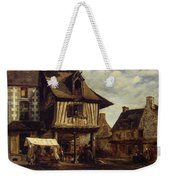 Market-place In Normandy Weekender Tote Bag