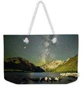 Mars And The Milky Way Weekender Tote Bag