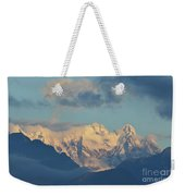 Massive Snow Caped Mountains In The Countryside Of Italy  Weekender Tote Bag